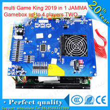 arcade machine pcb multi Game King 2019 in 1 upgrade to 2100 JAMMA Gamebox up to 4 players TWO cabinets without power supply
