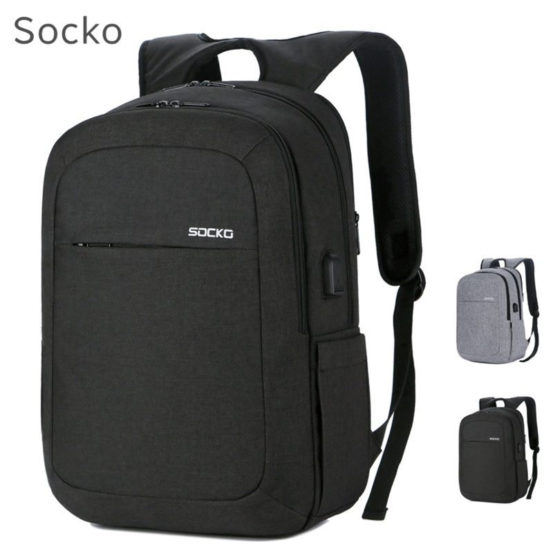цена 2018 Newest SOCKO Brand Backpack For Laptop 15