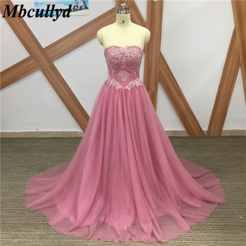 Mbcullyd Dust Pink   Bridesmaid     Dresses   Long 2019 High Quality A-Line Sweetheart Party Gowns For Women Formal Vestidos de fiesta