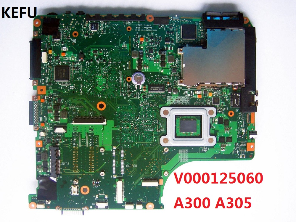 KEFU Motherboard for Toshiba A300 A305 Mainboard 6050A2169401 V000125060 DDR2 100% WORKING-in Motherboards from Computer & Office    2