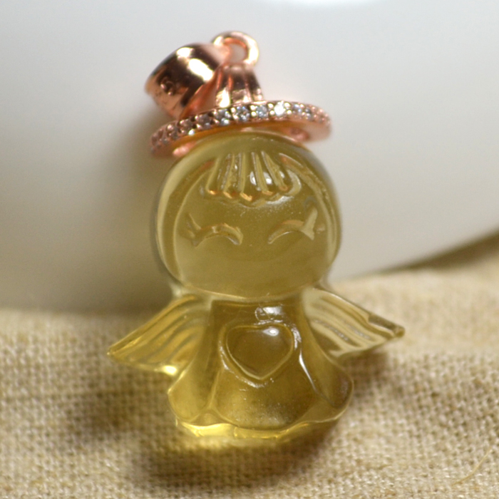 Fuxing guardian angel lucky baby pure natural Pendant pendant collar sweater chain short paragraph clearance