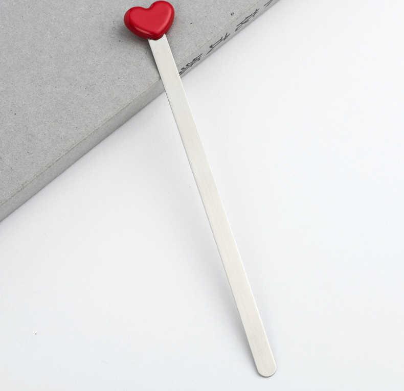 Di modo di Disegno Semplice Nastro Rosso Del Cuore di Amore Segnalibri In Metallo Creativo Bella di Alta Qualità Segnalibro Regalo 795
