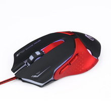 Adjustable DPI 1200/1600/2400/3200 USB Gaming Mouse 6 Buttons 7 Colors LED Light Big Game Mouse Optical Mice Antimagnetic MX06
