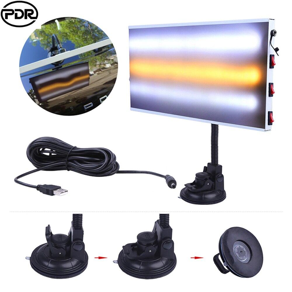 PDR инструменты светодиодный Светодиодный свет алюминиевый отражатель доска безболезненный вмятин удаление автомобиля Ремонтный комплект ...