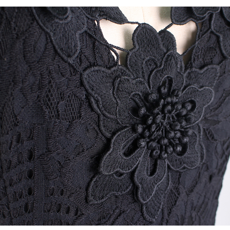 Vfemage Women Sexy Elegant 3D Crochet Flower Lace Party Evening Mother of  Bride Work Casual Special Occasion Bodycon Dress 4686-in Dresses from  Women s ... 88545cf73932