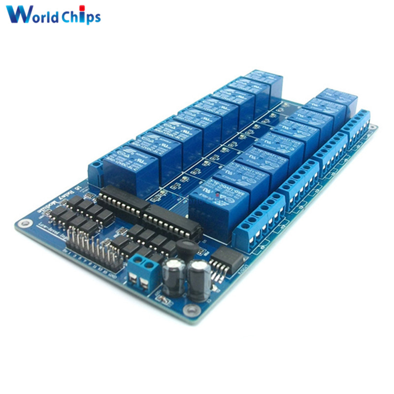 16-Channel 5V Relay Shield Module With Optocoupler LM2576 Power Supply For Arduino16-Channel 5V Relay Shield Module With Optocoupler LM2576 Power Supply For Arduino