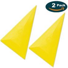 Professional Window Tint Tool Triangle Film Scraper Car Vinyl Applicator Tools Yellow Go Corner Squeegee - 2PCS недорого
