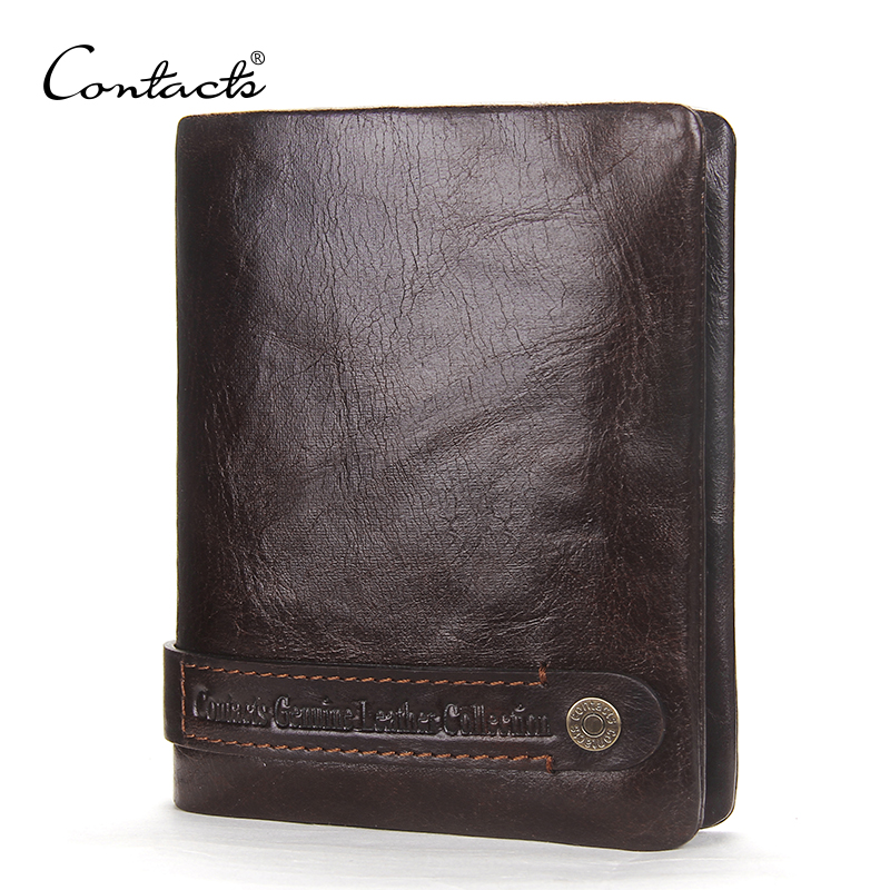 Fashion Men's Wallets Genuine Leather Credit Card Holder Coin Pockets Vintage Man Slim Wallet Casual Mens Small Coin Purse Short dalfr genuine leather mens wallets card holder male short wallet 6 inch cowhide vintage style coin purse small wallet