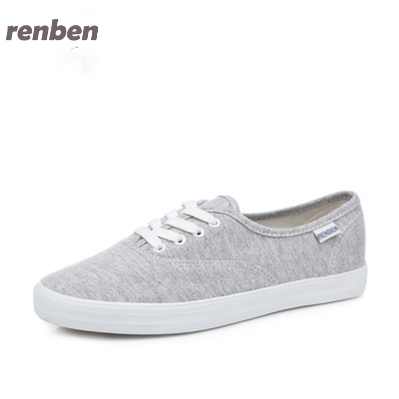RenBen 2017 fashion Women Canvas Shoes Classic low top lace up  shoes brand casual shoes candy colors 6e06 renben women canvas shoes 2017 fashion flats women casual white shoes breathable canvas lace up candy colors shoes 6e06