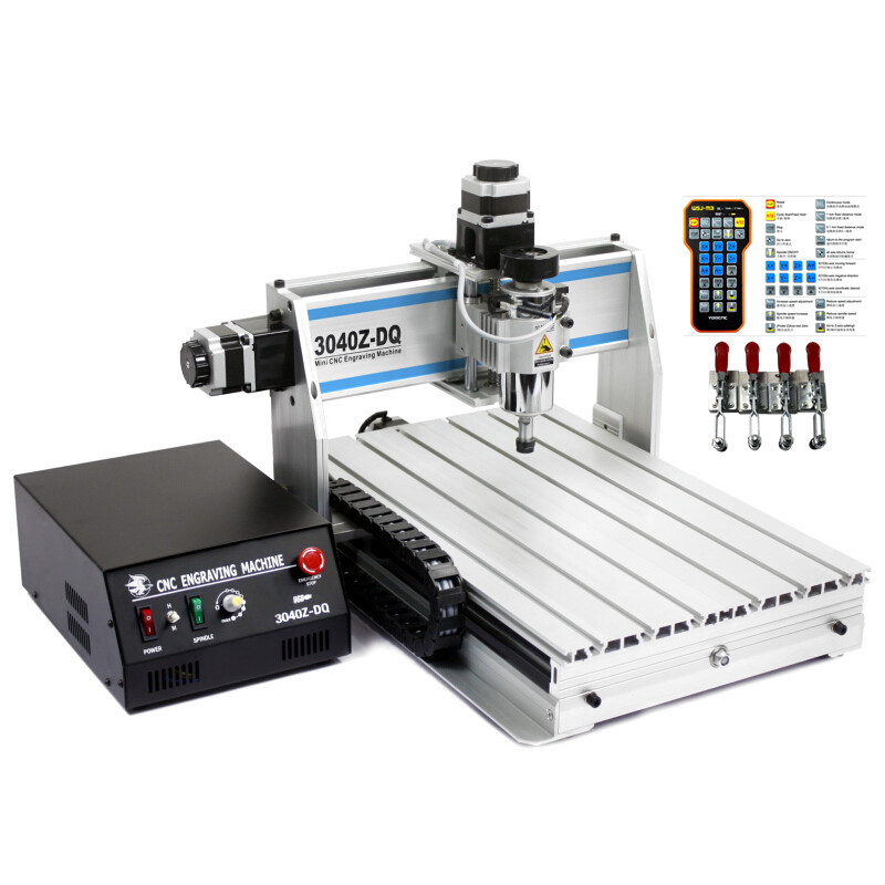CNC Engraver 3040 Z-DQ Milling Machine with rotary axis and ball screw along with tool auto-checking tool for 3d cnc