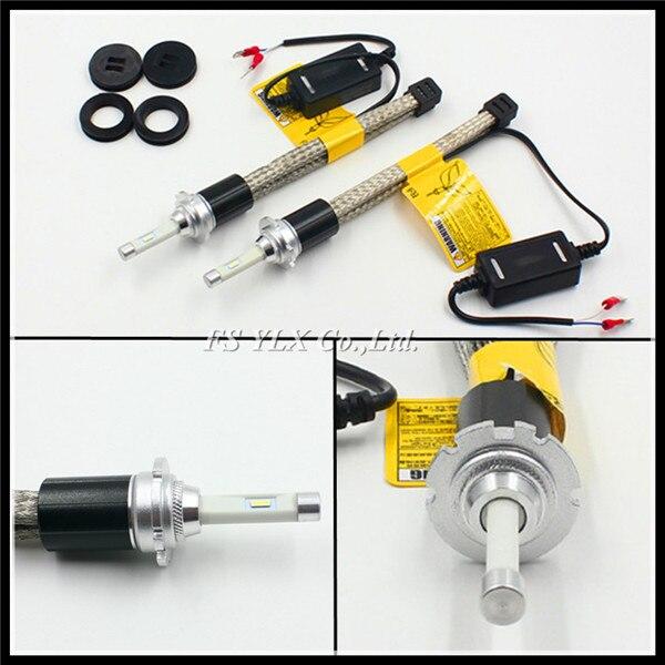 R4 E.TI 60W 7200LM D1 D2 LED Headlight Conversion kit D1S D1C D2S D2C D3 D4 Car LED Headlight Fog Light Bulb 2pcs d1 d2 d3 d4 d2s d2r d2c d4 car led headlight conversion kit 110w 10400lm 6000k white light bulbs