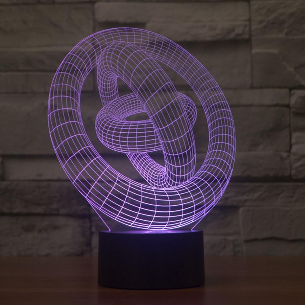 Diy bunten led licht touch schalter moderne 3d led lampe visuelle illusion könnte licht für schlafzimmer