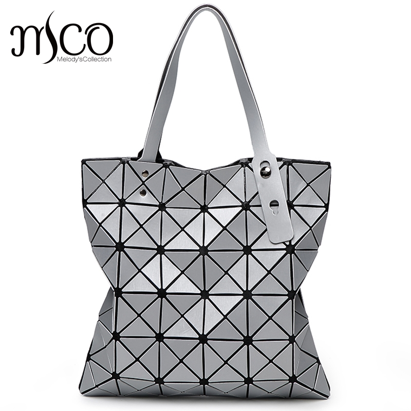 Japanese Style Diamond Lattice Tote Handbag For Ladies Geometry Laser Women Beach Shoulder Bag Lucent Prism Holographic Bags