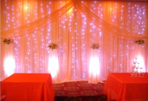 Romantic 1mx2m 220V Shining Gorgeous Purple LED Christmas Tree Party Wall Window Decor Light Curtain