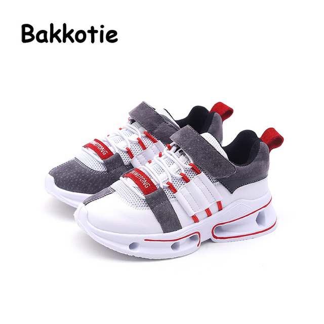 b2b14c00c5fb Bakkotie 2018 Spring Baby Boy Fashion Genuine Leather Shoes Child Casual  Sneakers Kid Mesh Sport Shoes Girl Black Shoes Trainer