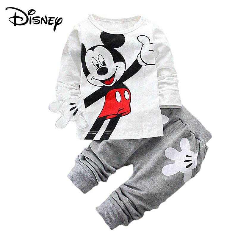 d43d82de41be9 Disney Minnie Mickey Frozen Baby Girl Sets Clothes Brand Newborn Infant  Clothing Cartoon Pants Outfit Kids Bebes Jogging Suit