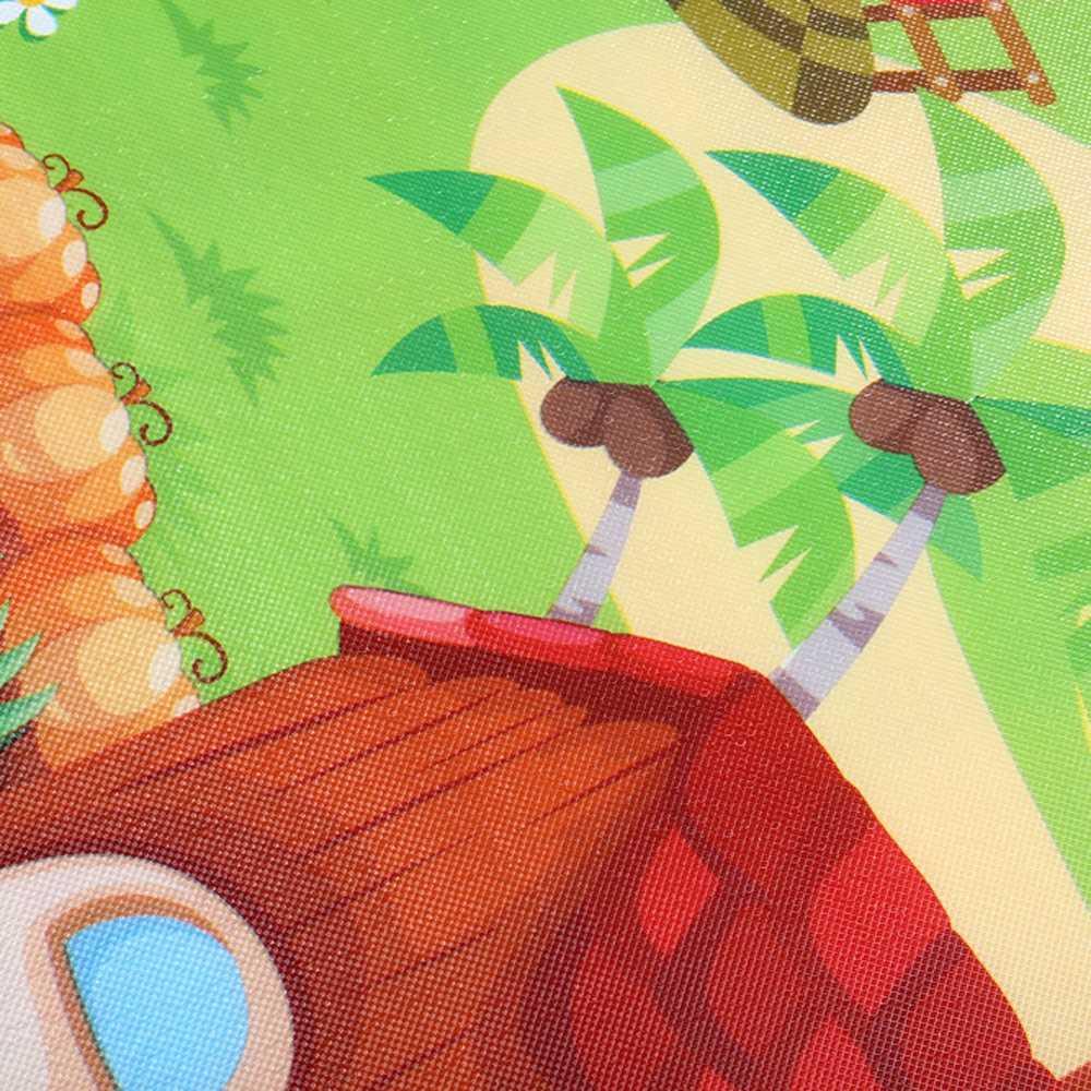 MrY экологичный ПЭ, хлопок, ребенок, ребенок, письмо, ферма, игра, ковер, ползать, головоломка, игрушка, коврик для подъема, двусторонняя фрукты, буквы