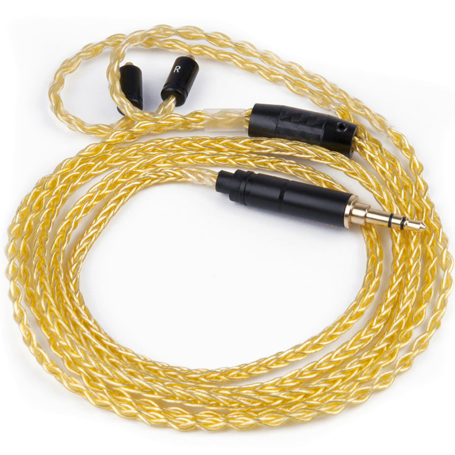 Wooeasy 3.5mm Plug Custom Made Pure Gold Plated Cable 8-Cores Detach Cable Earphone MMCX Cable for LZ A4 A5 wooeasy custom made 8 core the heart of the ocean earphone upgrade cable for ue pro18 se215 ie80 im40 70 w4r ue900 tf10 15