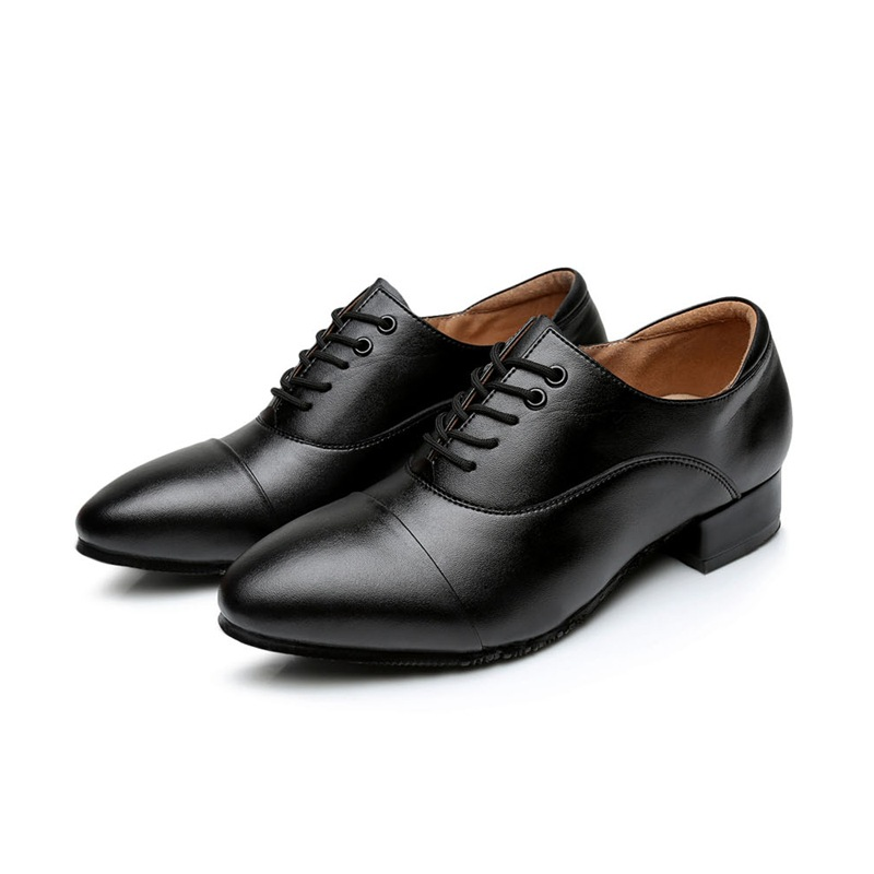 Cattle With Men Shoes Dancing Sports Round Pippin Soft Bottom Strap Latin Dance Shoes Leather Bottom