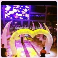 Новый Красочный 4.5 МВт (15ft) в форме сердца, свадебные украшения Надувные входная арка для продажи