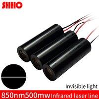 Professionelle hohe qualität unsichtbare licht 850nm 500mw infrarot linie laser modul 12*42mm IR laser kennzeichnung locator