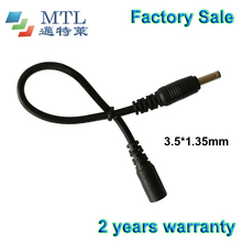 DC extension cable wire, 100 pcs/lot, black, 22 awg wire, 3.5*1.35 male to female connector, factory wholesale