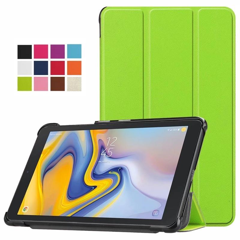 50 шт./лот Slim-Fit кожа Смарт отойти Магнитная крышка с автоматическим Уэйк & Sleep для samsung Galaxy Tab 8,0 ''2018 Tablet