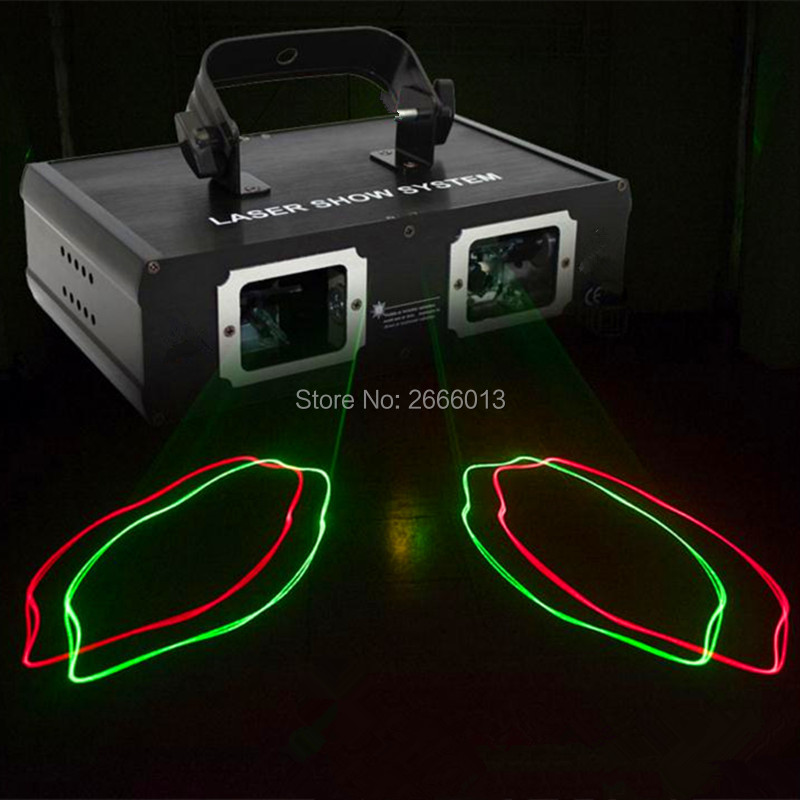 Niugul High Quality 2 Lens RG DMX Laser Projector/Disco DJ Party Lighting Red Green Color Laser DMX LED Beam Effect Stage Lights element ex276 peq15 battery case military high precision red dot laser integrated with led flashlight red laser and ir lens