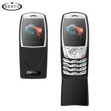 SERVO Telefonu S06 1.77 inç Dışında SpreadtrumSC6533 Çift SIM Kart Cep Telefonu GSM Titreşim FM Radyo Cep telefonları Rus klavye