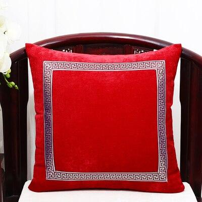 Высококлассное роскошное кружевное бархатное покрытие для подушки Чехол Рождественская Подушка Чехлы для дивана стула декоративная наволочка Подушка - Цвет: Темно-рыжий