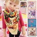 100cm*100cm 100% Twill Silk Euro Brand Spring Rose Flowers Print Women Square Scarf Female Muslim Headscarf Shawl B1