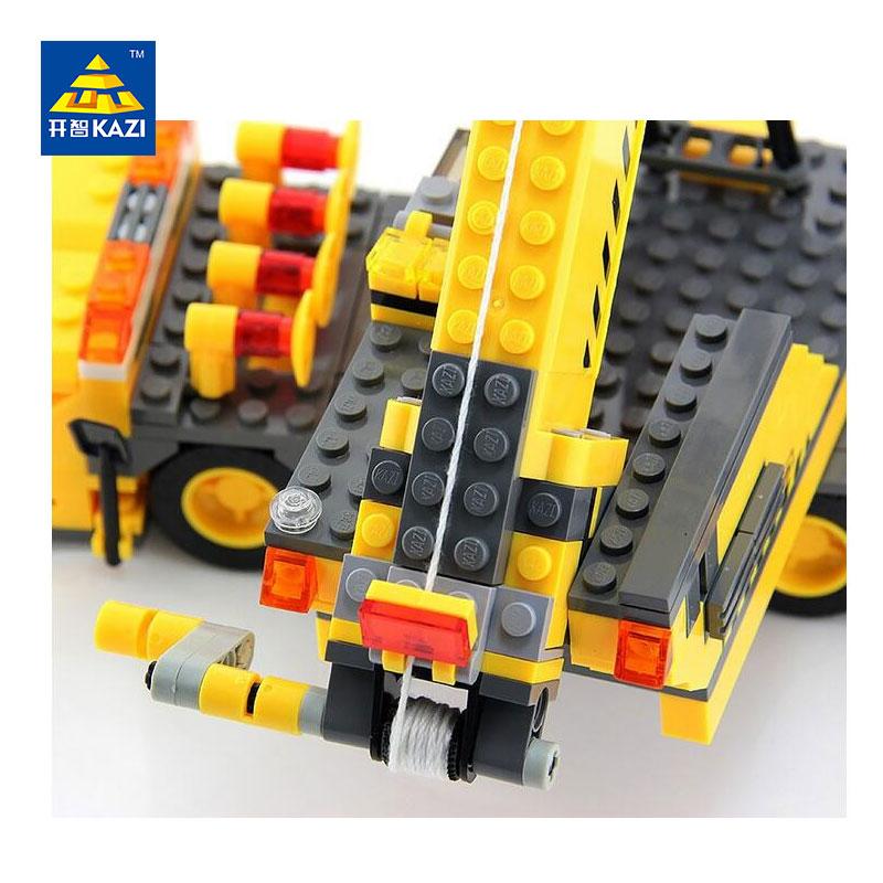 KAZI 8045 380 PCs City Engineering Construction Crane Car Brick Set Building Block Kids Toys City Playmobile Christmas Gift