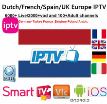 Dutch IPTV Subscription Rocksat France UK German Arabic Netherlands Sweden French Poland Portugal Smart TV IPTV M3U 6000 Live(China)