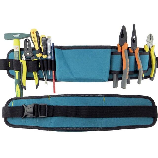 Multifunctional Tool Bag Electrician Tool Belt Hand Tools Organizer Waterproof Oxford Tools Kit Pockets & Waist Belt B Type