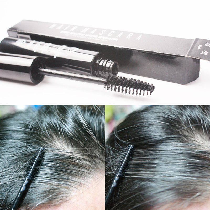 Disposable temporary cover white hair natural plant extraction hair mascara color dye no hurt hair no irritation #871