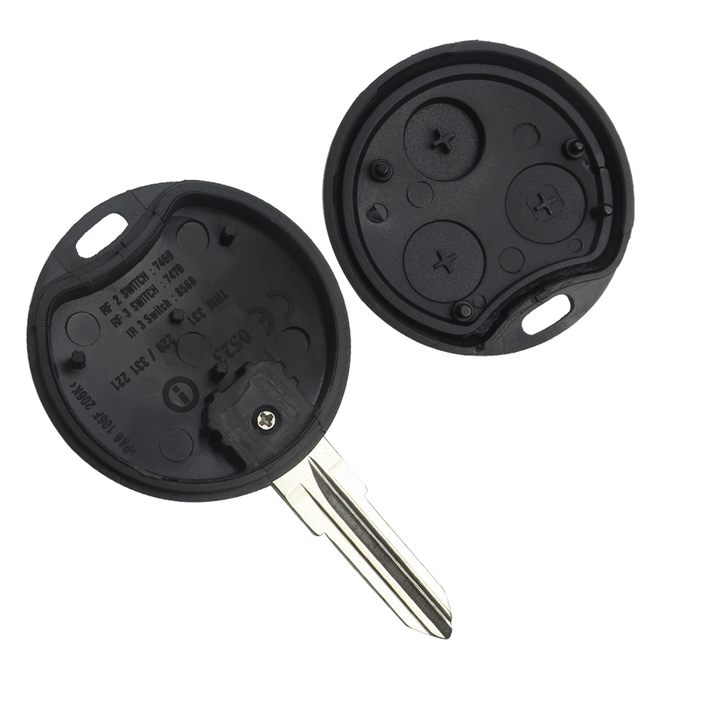 SMART FORTWO 450 FORFOUR 451 ROADSTAR COUPE REMOTE KEY BUTTON 2x SWITCH BUTTON