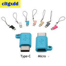 cltgxdd Universal USB 3.1 Type-C Male Connector to Micro Female Converter USB-C Data Adapter Charging Device