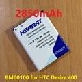 2850 mah bateria para htc desire 400 bm60100 (Dual) 500 506e 600 606 W T606W T608T T609D Z4 Um SC/ST/SU/SV C525E C525c T5088 T528d