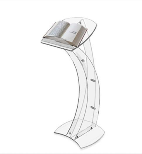Custom Modern Acrylic Podium Acrylic Clear Rostrum Acrylic Lectern Acrylic Pulpit for Office Organization
