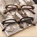 New Fashion Men Women plain mirror Frame Glasses Nerd Geek Eyewear frames With Clear Lens  Freeshipping