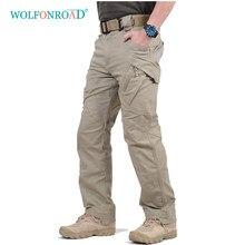 Wolfonroad calças táticas ix9, calças masculinas para uso ao ar livre, exército, combate, acampamento, trilhas, caça, calças militares, multi bolsos