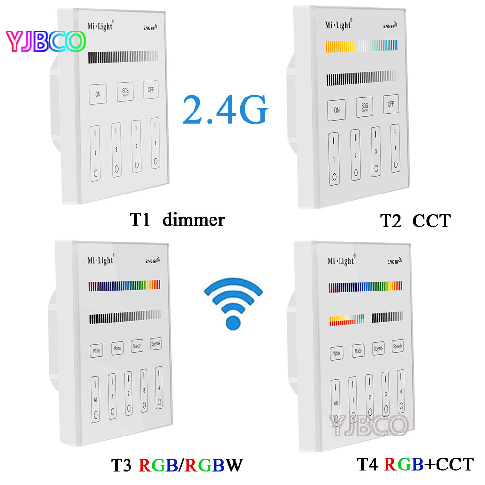 Popular t4 strip light buy cheap t4 strip light lots from china t4 mi light 24g t1t2t3t4 4 zone smart touch aloadofball