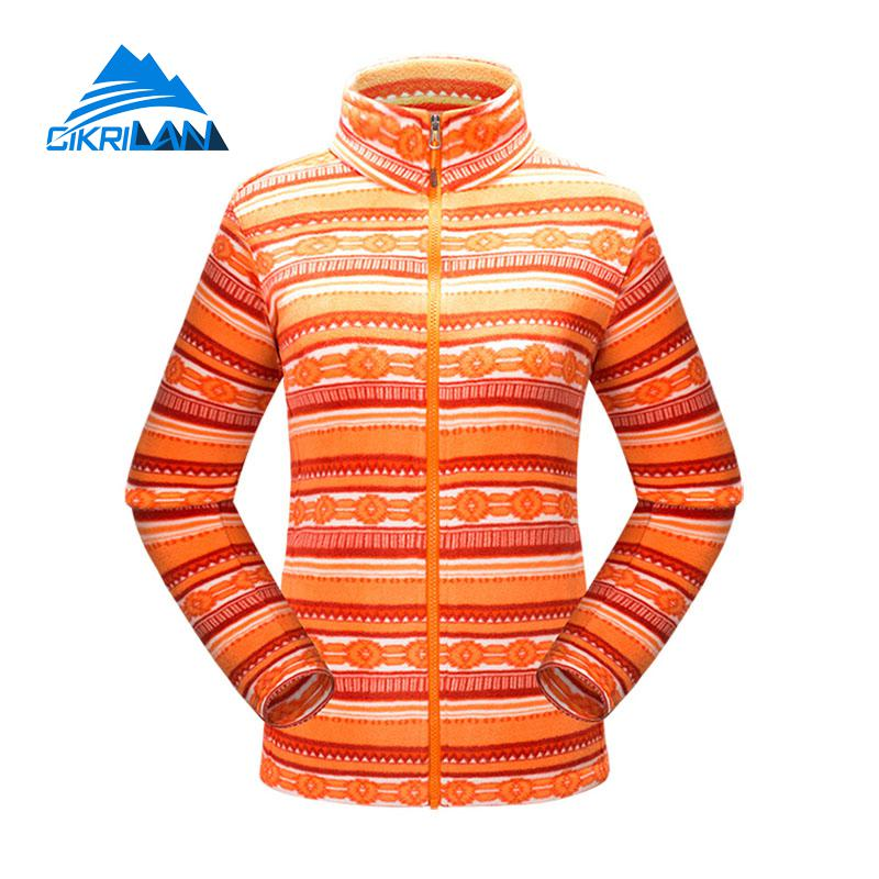 New Full Zip Long Sleeve Polar Fleece Coat Lightweight Bodywarmer Camping Hiking Outdoor Jacket Women Climbing Casaco Feminino