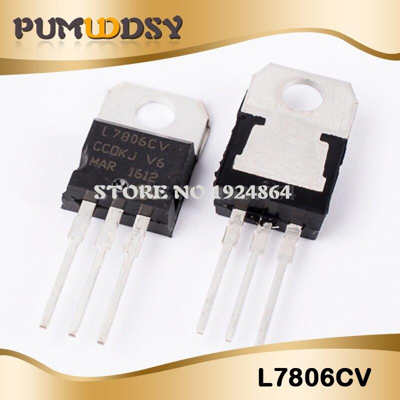 5PCS NEW L7806CV LM7806 MC7806 TO-220 Voltage Regulator IC