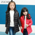 Winter Jackets For Girls New year Lightweight Ultralight Girl Long Snowsuit Children Down Coats Outerwear Kids Clothing GH260