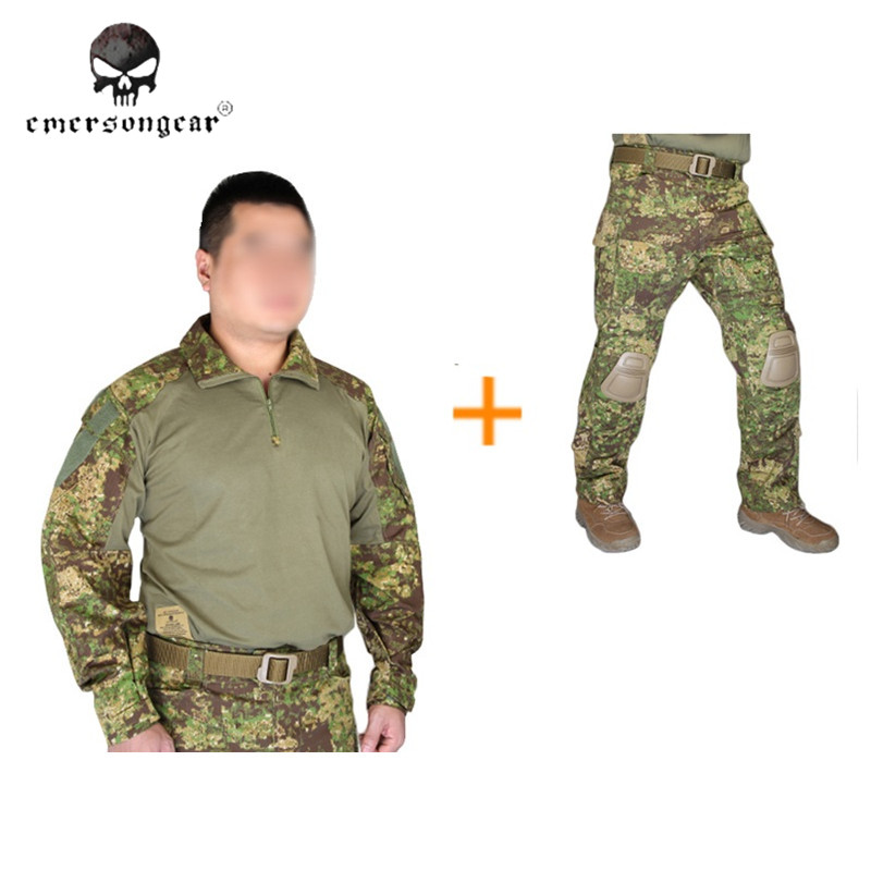 Emersongear G3 Combat Uniform Shirt & Pants with Knee Pads Army Airsoft Tactical Emerson Military Greenzone Hunting Cloth GZ military uniform multicam army combat shirt uniform tactical pants with knee pads camouflage suit hunting clothes