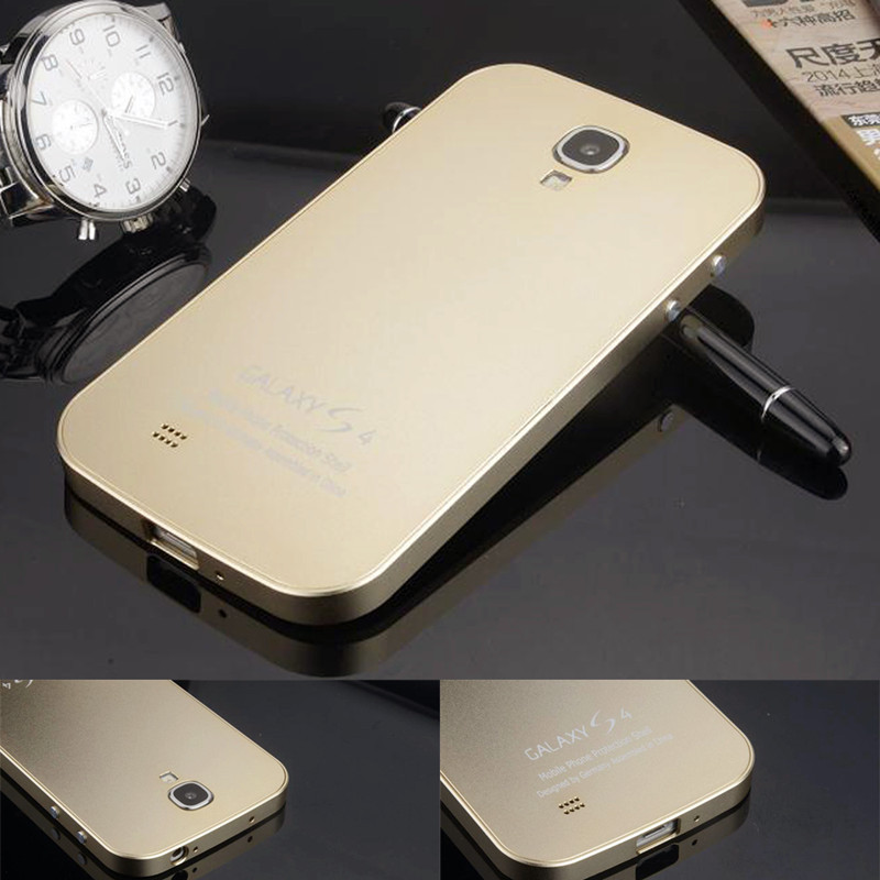 Metal Aluminum Case for Samsung Galaxy S4 i9500 Luxury Matting Surface frame Ultrathin Battery Cover for
