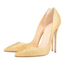 Dropshopping Spring New Fashion Sexy Sheepskin Leather Super High Heel 10CM Shoes Women Black Red Wedding Pumps D002B