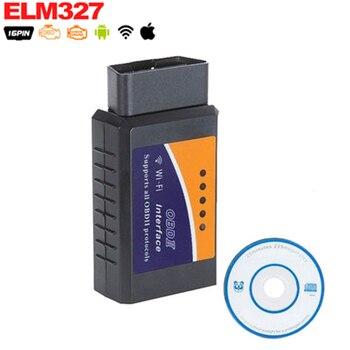 Беспроводной диагностический сканер OBD 2, V2.1, ELM 327, Wi-Fi, для iPhone, iPad, iPod