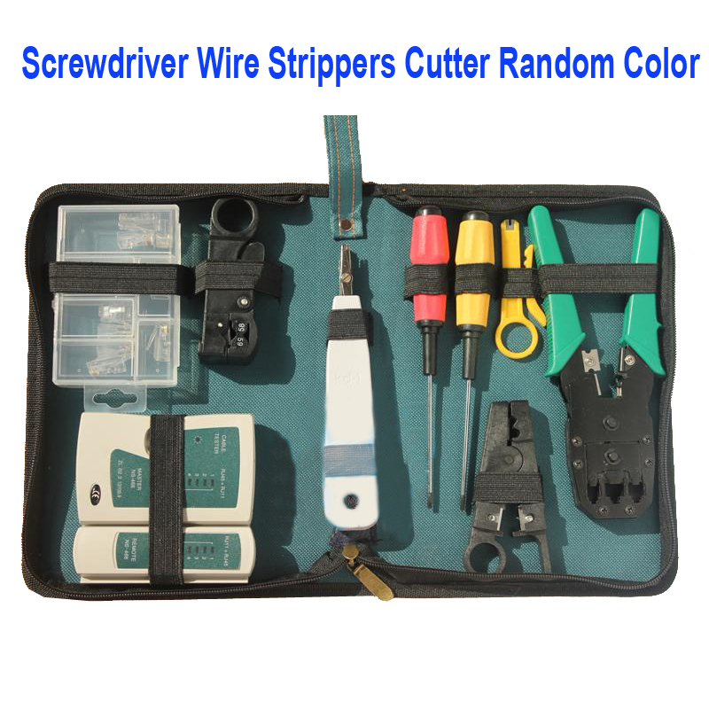 11 in 1 screwdriver pliers crimping tool set professional maintenance repair computer network. Black Bedroom Furniture Sets. Home Design Ideas